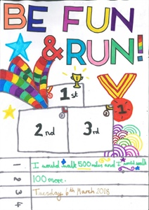 Be Fun & Run (06/03/18) - Winning Poster and Logo